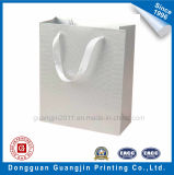 Customized Embossing Paper Gift Bag with Ribbon Handle
