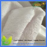 White Color PU Coated Waterproof Knitted Mattress Terry Fabric