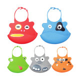 Easy to Clean Cute Waterproof Silicone Baby Bib