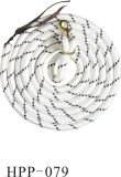 PP Equestrain Equipment Horse Lead with Leather Strip End