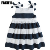 OEM American&European Style Kids Clothing Summer Girl Cotton Striped Dress Cotton Baby Apparel