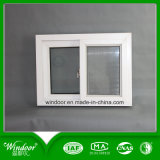 White Frame Single Glass Cheap PVC Window