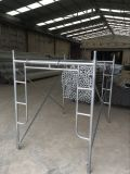 Galvanized Metal Frame System Scaffolding H Type Frame