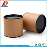 Promotion Cylinder Kraft Paper Packaging Box with Metal Lid