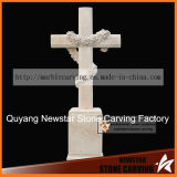 White Crossing Carving Tombstone Ts007