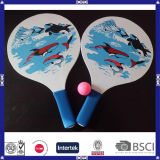 OEM Printed Cheap Wood Beach Racket for Promotion