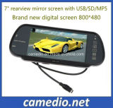 "HD 7"" Car TFT LCD Color Monitor Rear View Mirror with Bluetooth MP5/FM/USB"