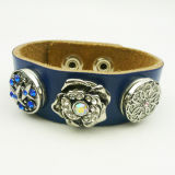 Wholesale Soft Leather Snap Button Bracelets Multicolor Fashion Jewelry Accessories