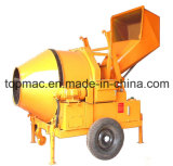 Electric Concrete Mixer - Hydraulic Tipping, Reversible Drum