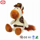 Cowboy Custom Boy Plush Stuffed Soft Horse Gift Sitting Toy