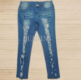 Latest Fashion High Quality Wholesale Women Denim Jeans (Hdlj0049)