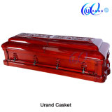 Solid African Mahogany Luxury Carved Funeral Solid Wood Casket