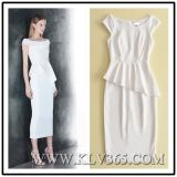 Designer Fashion Ladies Formal Dress Ruffle Bandage Bodycon Dress
