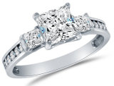Wholesale Engagement Ring 925 Sterling Silver with 3A CZ