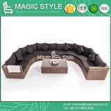 Big Size Patio Sofa Set Combination Wicker Sofa Set Garden Rattan Sofa Set (Magic Style)