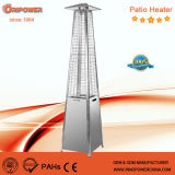Quartz Tube Real Flame Pyramid Outdoor Gas Patio Heater (stainless steel)