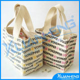 White Standard Size Printed Cotton Canvas Bag