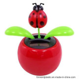 BSCI, Wca, Sqp, Wal-Mart Factory Certified, Solar Powered Dancing Lady Bug Flower/Solar Toys Lady Bird (multi Color)