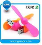 Wholesale China Portable Mobile Phone USB 2 in 1 Mini Fan