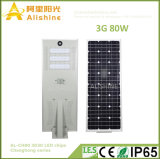 2018 New Product 3G Series Model 80W All in One Solar Street Light with 3030 LED Chips 160lumens