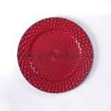 Promotion Gift New Vintage Red Plastic Plate