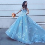 Blue Pageant Dresses off Shoulder Lace Party Evening Prom Dresses 2020 T92435