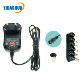 Factory Universal Wall Adapter 12V Wall Charger EU Plug with Adjustable Voltage 6tips