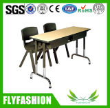 Cheap Classroom Furniture Double Desk with Chair (SF-25D)