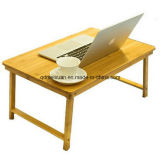 Bamboo and Wood Folding Laptop Computer Desk Nanzhu The Table Dormitory Bed Solid Wood Desk Study Table Table (M-X3447)