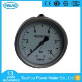 "4""100mm Full Stainless Steel Back Connection Pressure Gauge En837-1"