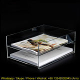 Two Tiers Acrylic Plastic Book Display Bookshelf for Tabletop Display