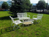 Modern Outdoor Furniture Stainless Steel Rattan Table and Chairs Set