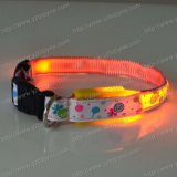 LED Printed Dog Collar, Pet Collar (YD509)