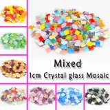10 X 10mm Square Crystal Glass Mosaic Tile Green Blue Red DIY Craft Mosaic Art Supplier, Mini Tile Home Garden