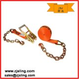 "Ratchet Strap W/ Chain Extension 2"" X 27′ Orange"