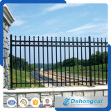 High Quality Black Painted Ornamental Wrought Iron Fence/Steel Fencing