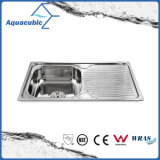 Above Counter Stainless Steel Moduled Kitchen Sink (ACS-7848)