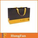 High Quality Paper Shopping Bag with Silkscreen Printed Logo