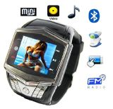 "GSM Watch Mobile Phone with 1.3MP Camera, 1.5""Touch LCD"