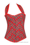 Women Slimming Red Underbust Shaperwear Waist Trainer Corset Shapers
