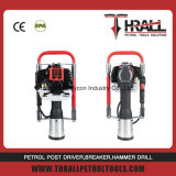 Thrall 51.7cc DPD-100 gasoline pile driver, hand piling machine