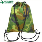 Custom 600d School Bag Sport Camouflage Drawstring Backpack Bag
