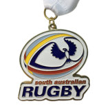 Customized Brass Stamping Soft Enamel Rugby Competition Award Medal