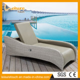 All Weather Hotel/Home Garden Poolside Sun Lounge Wicker Uphostery Leather Lying Chair Patio Outdoor Leisure Furniture