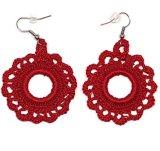Custom OEM Hand Crochet Earrings, Handmade Knitted Thread Jewellery