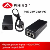 24V1a/24W Gigabit Passive Poe Injector Adapter for Wireless Aps IP Phones Cameras