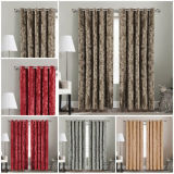 Crushed Velvet Ready Made Eyelet Top Blackout Lined Pair Curtains