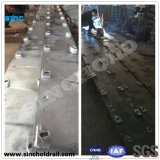 Port Crane Rail Foundation Continuous Steel Plates