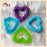 Durable Dog Toy/ Heart Shape Rubber Pet Dental Teeth Toys (KB1133)