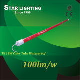 Red and Blue Cover Waterproof 100lm/W LED T8 Light Tube